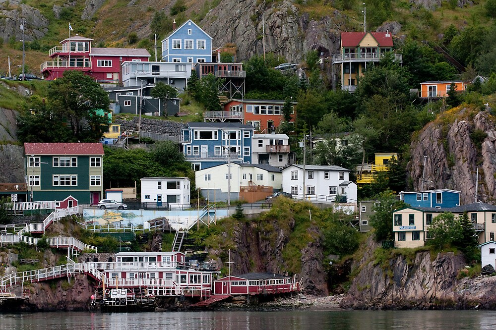 Houses of signal hill newfoundland by benjamin brauer for Newfoundland houses
