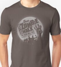 Zombie Walk - Grey Unisex T-Shirt