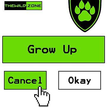 Wild Logo 'Grow Up Options' Tee by PaperGoblin