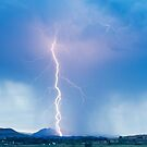 Lightning Strike Colorado Rocky Mountain Foothills Boulder Count by Bo Insogna