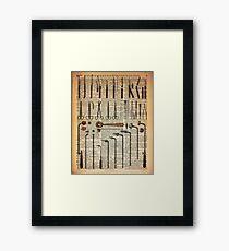 Vintage Medical Instruments Framed Print