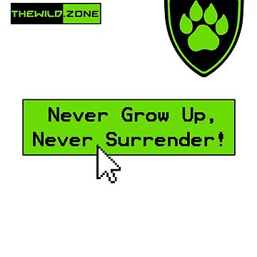 Wild Logo 'Never Grow Up!' Tee by PaperGoblin