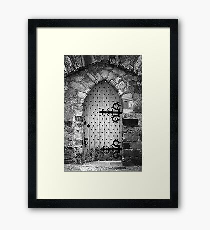 Nail Studded Door Framed Print
