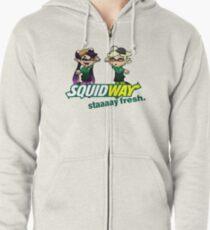 Squidway: Staaaay Fresh! Zipped Hoodie