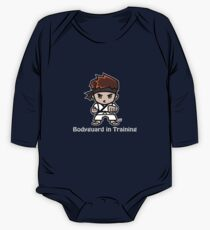 Martial Arts/Karate Boy - Bodyguard (gray font) One Piece - Long Sleeve