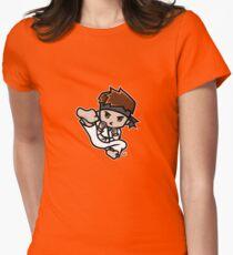 Martial Arts/Karate Boy - Jumpkick Womens Fitted T-Shirt