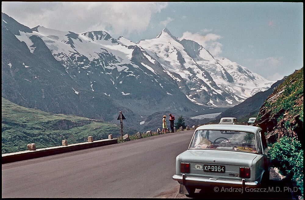"""My  first breath of fresh air and """" Free Europe """". Grossglockner High Alpine Road . Austria . 1970. by Brown Sugar. Views (292) favorited by (1)  thank you friends ! by © Andrzej Goszcz,M.D. Ph.D"""