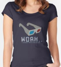 3D Glasses Women's Fitted Scoop T-Shirt