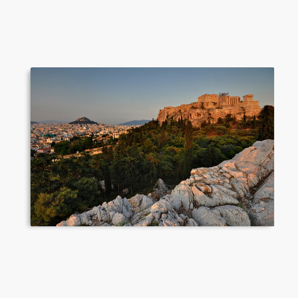 The Acropolis and Lycabettus Hill Canvas Print