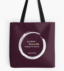 Inspirational Destiny & Life Quote Tote Bag
