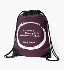 Inspirational Destiny & Life Quote Drawstring Bag