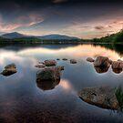 Loch Morlich - Sunset, Scotland by David Lewins