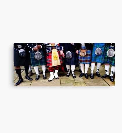 Away the lads Canvas Print