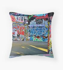 Graffitiing Throw Pillow