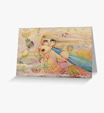 rainbow angel Greeting Card