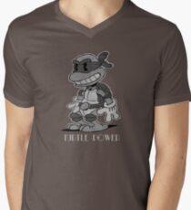 Turtle Power Mens V-Neck T-Shirt