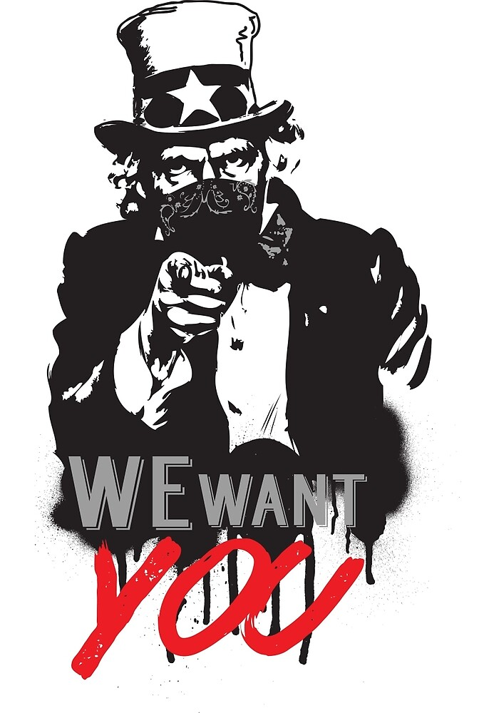 """Uncle Sam """"We want you"""" by calinvr"""