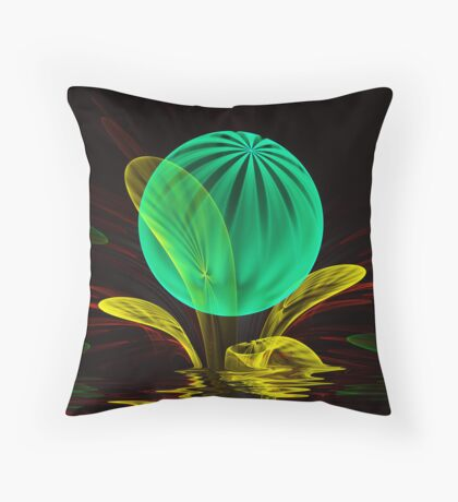 Bubble Plant Throw Pillow