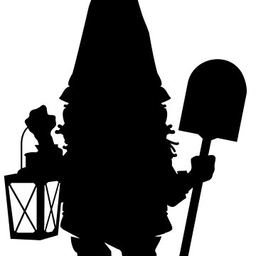 Gnome in Silhouette  by CptPhoenix