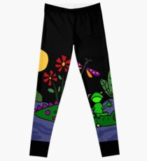 Funky Frog Sitting on Alligator Snout Leggings