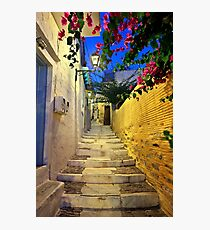 Walking in Ano Syra Photographic Print