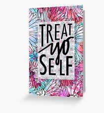 Treat yourself greeting cards redbubble treat yo self parks and recreation greeting card m4hsunfo Choice Image