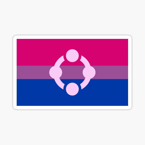 Fetish Flag Bisexuality Sticker