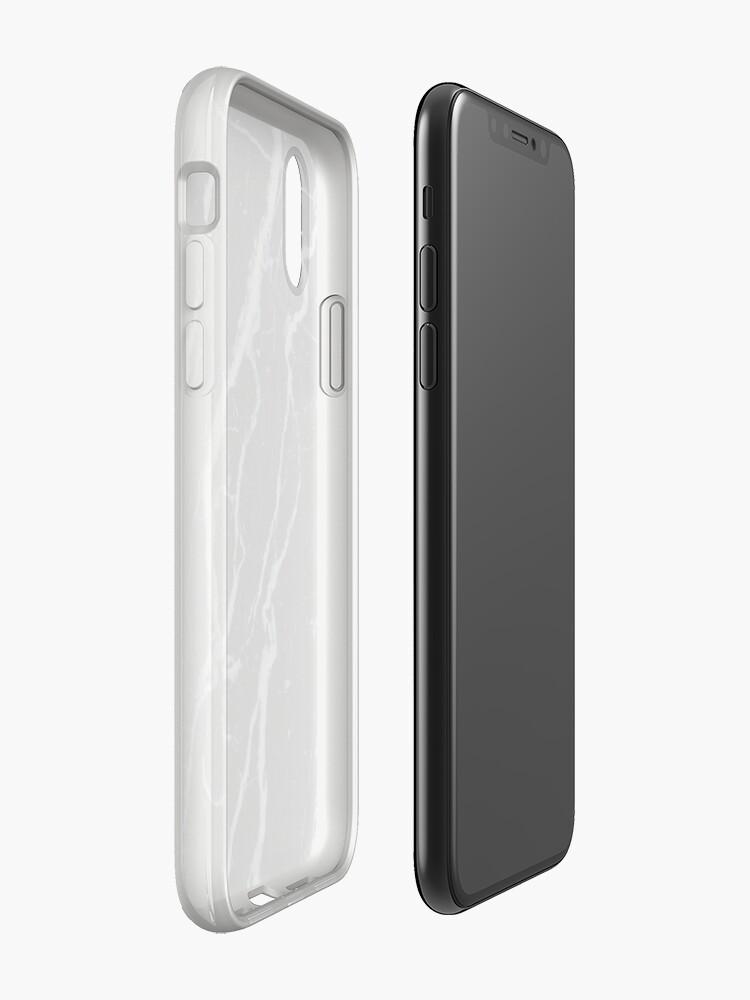 Vista alternativa de Funda y vinilo para iPhone Funda de iPhone en mármol negro
