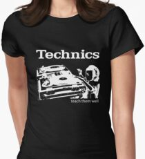technics 3 Women's Fitted T-Shirt