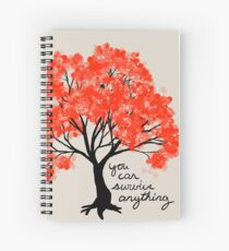 """""""You Can Survive Anything"""" Tree Spiral Notebook"""