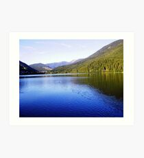 Picturesque Little Lake in Trentin Art Print