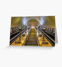 Southgate Escalators Greeting Card