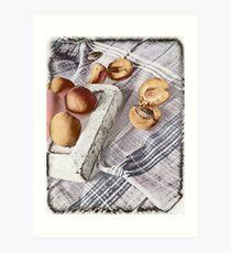 Still life with Apricots Art Print