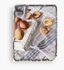 Still life with Apricots Canvas Print