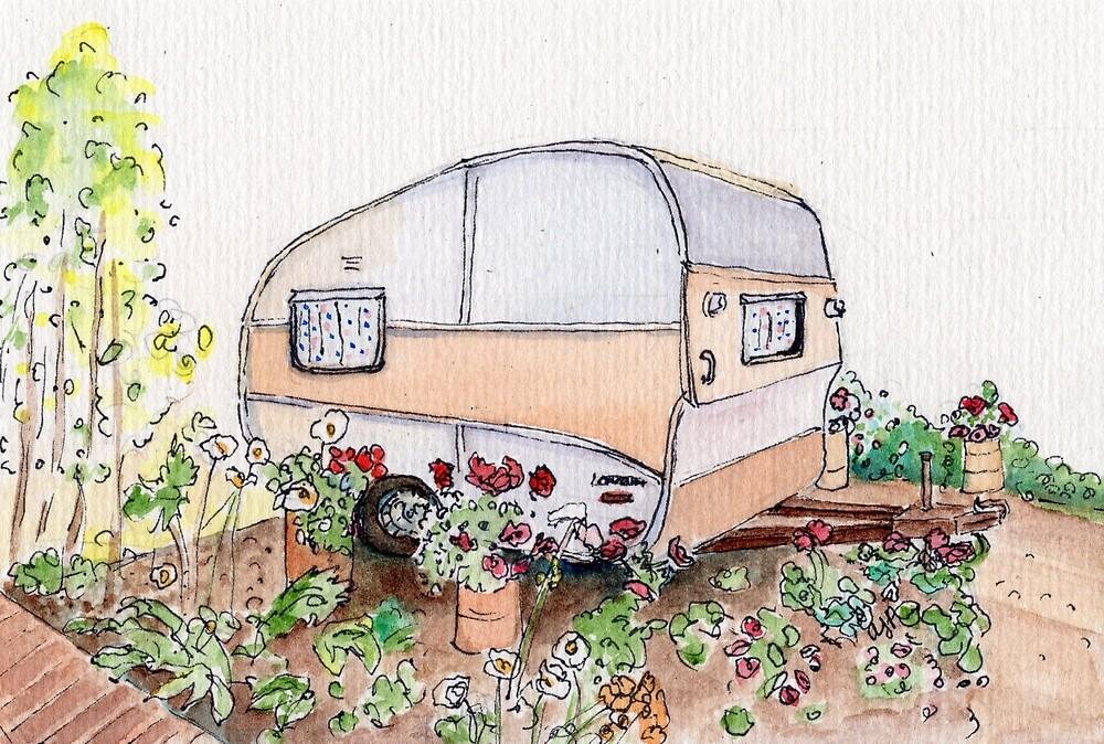 Caravan on the Isle of Wight by ajparis