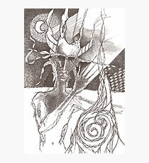Nimbus Phone Doodle Photographic Print