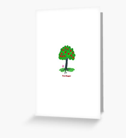 Tree Hugger Design Greeting Card