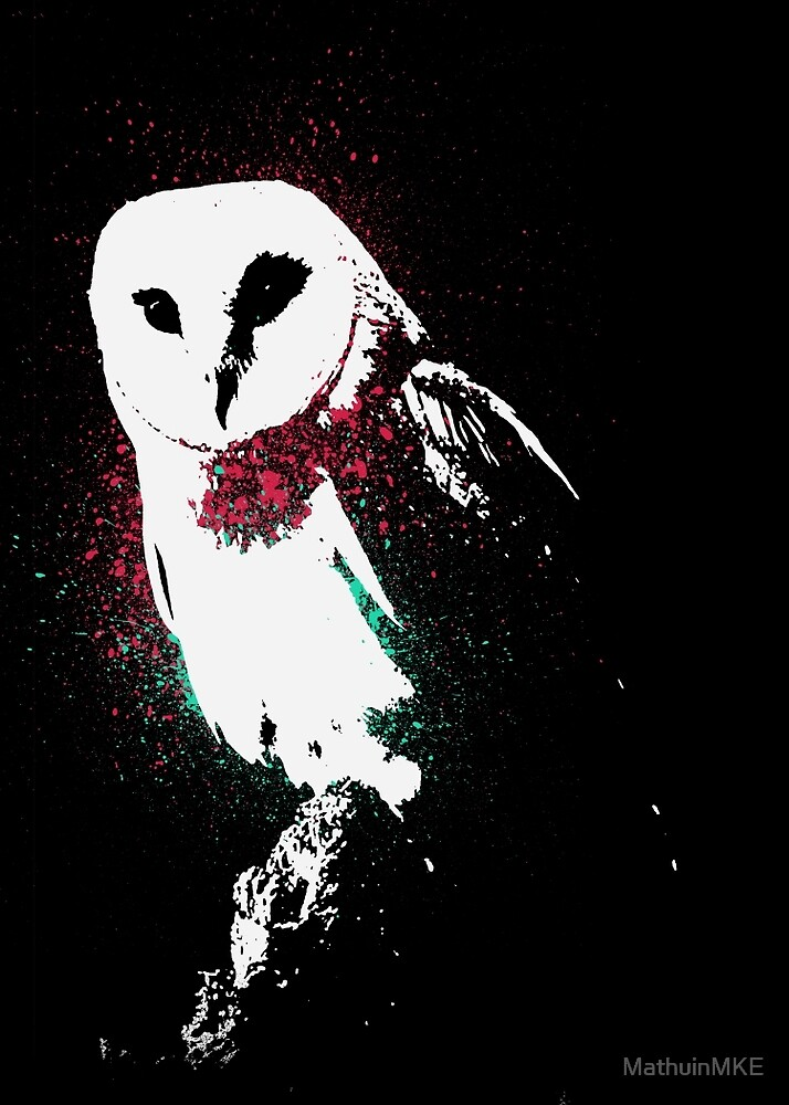 Neon Owl by MathuinMKE