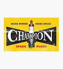 Vintage Spark Plug Photographic Print