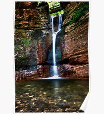 Kel Burn Waterfall Poster