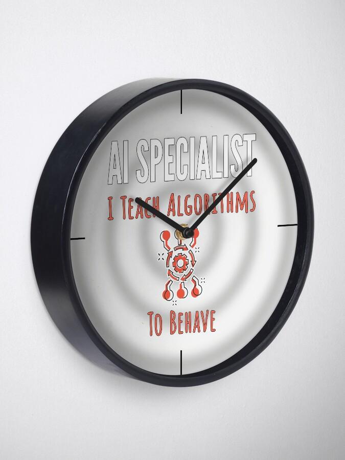 Alternate view of AI Specialist. Clock