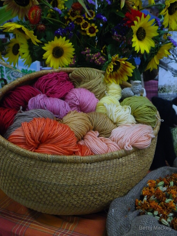 Wool Dyed with Natural Materials by Betty Mackey