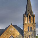 The Church on Court Street - Cortland, NY by Edith Reynolds