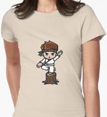 Martial Arts/Karate Boy - Crane one-legged stance Womens Fitted T-Shirt