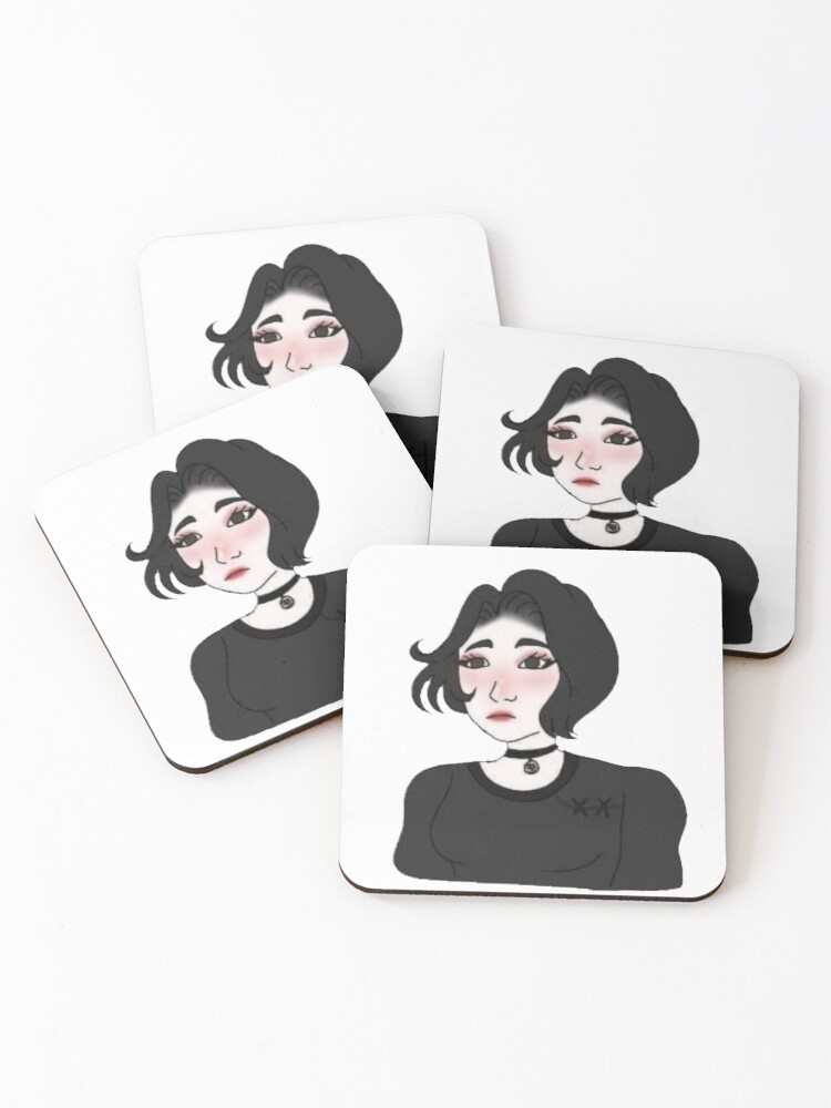 Doomer Girl Sticker Coasters Set Of 4 By Jrc71 Redbubble