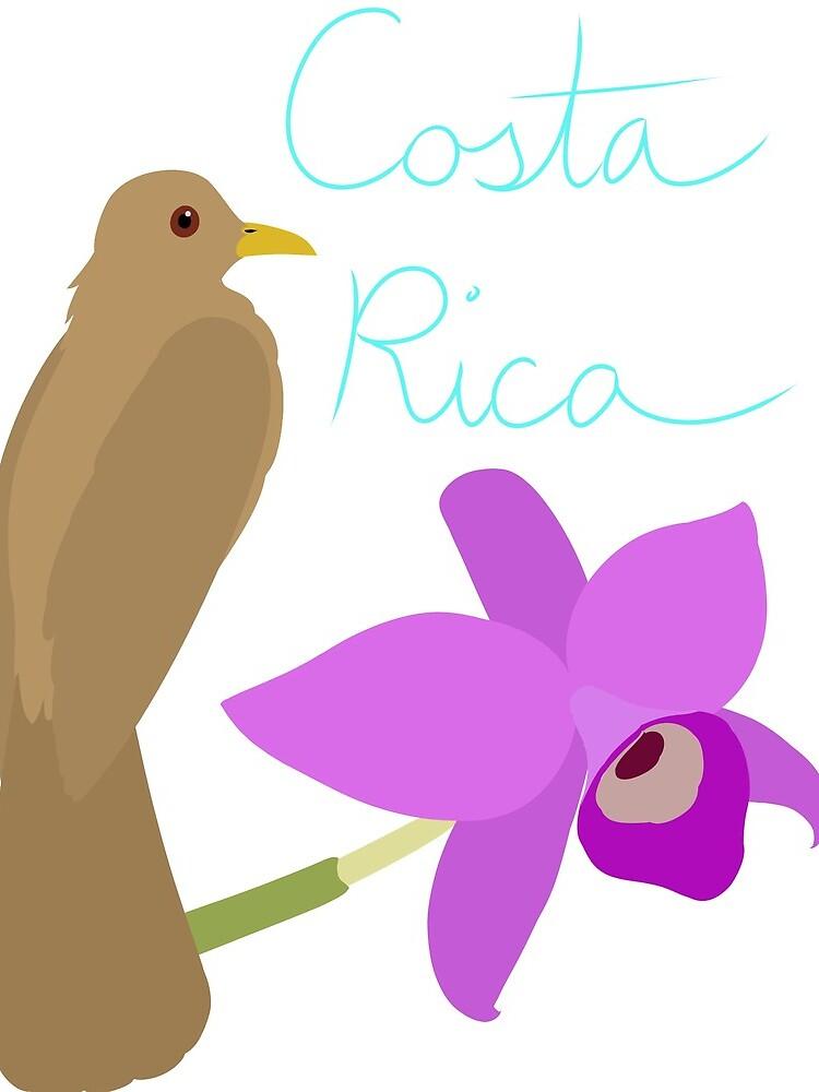 Costa Rica: Guaria Morada and Clay Colored Thrush by LegendofStella