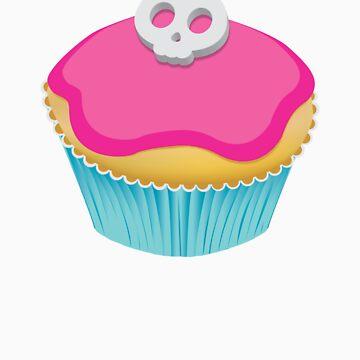Skull Cupcake (pink) by xTRIGx