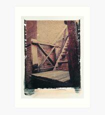 chiang mai polaroid image transfer Art Print