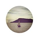Sailboat in a circle - Lake Titicaca, Peru by Carly Chapman