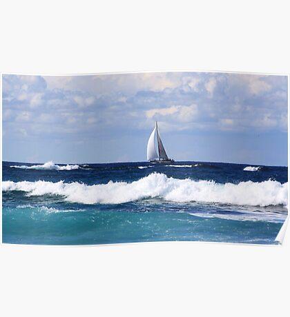 sails at kingscliff ... Poster
